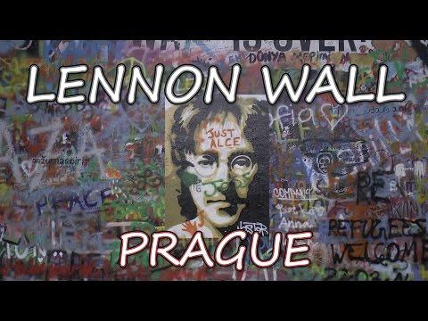Lennon Wall, Prague, Czech Republic.