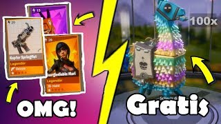 😱 FREE BIRTHDAY LAMAS | BIRTHDAY LAMA OPENING | FORTNITE RETTE THE WORLD
