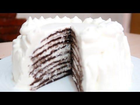 блинный торт с взбитыми сливками рецепт пошагово