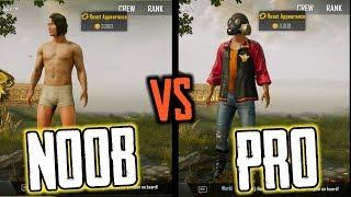 NOOB PLAYER VS PRO PLAYER || PUBG MOBILE
