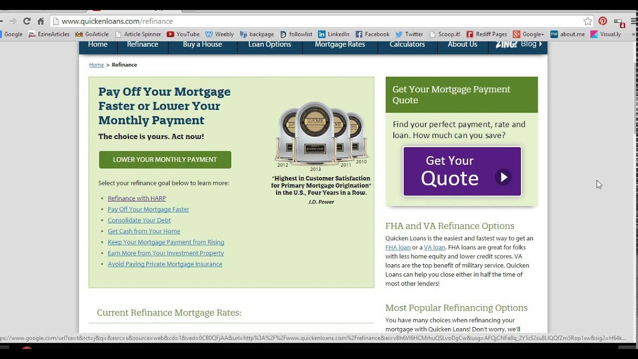 Refinance Your Mortgage Quicken Loans UK | Visual ly