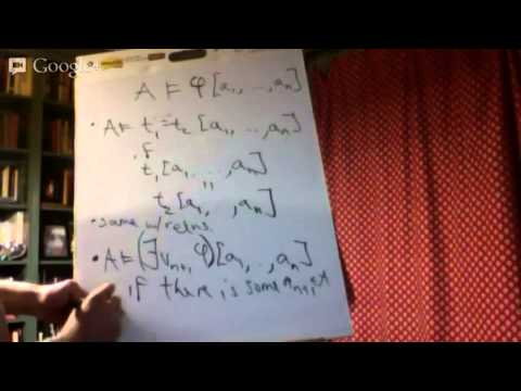 B1. Basic Model Theory 1