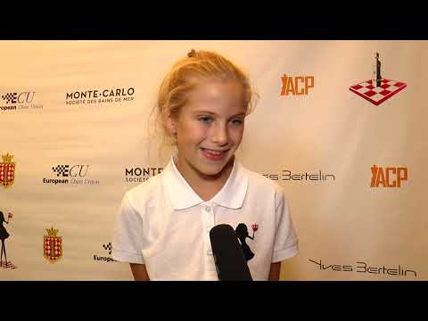 Fiorina Berezovsky | Young chess star from Monaco | European Women's Chess Championship