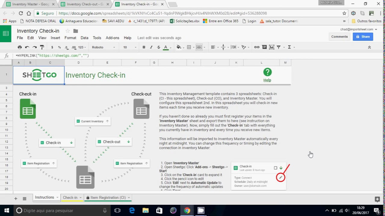 Google Sheets Inventory Management Template - YouTube