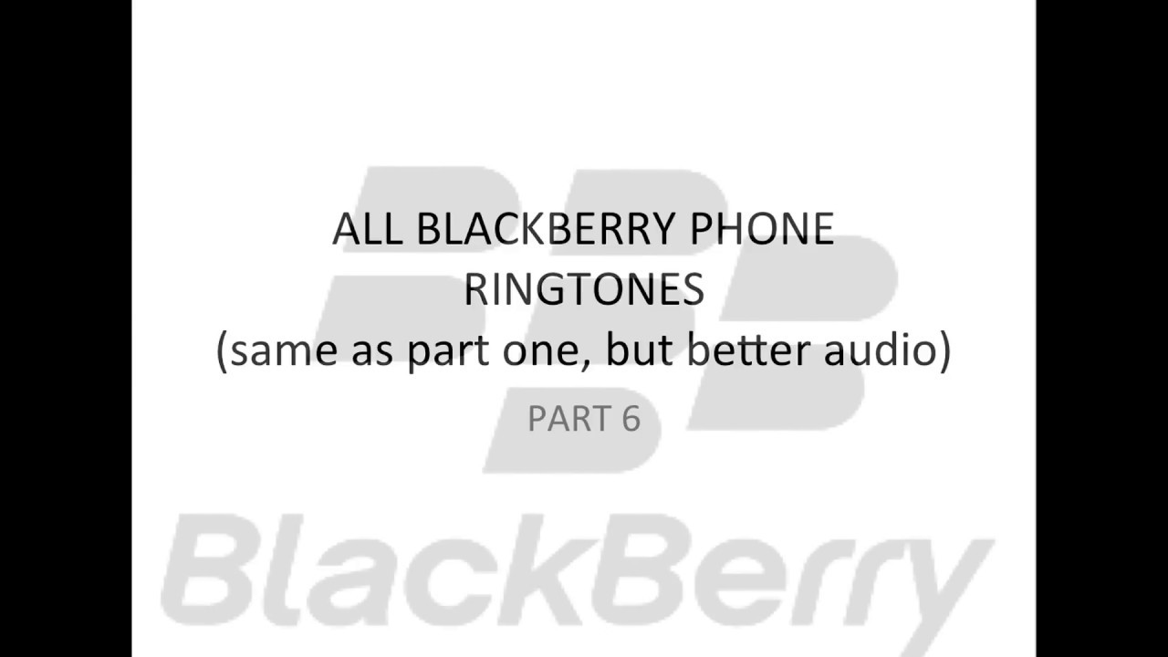 Missing those classic ringtones from your old blackberry? Here's.