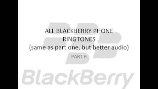 All Blackberry Ringtones