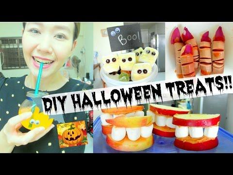 DIY HALLOWEEN TREATS! Super easy party food ideas!!