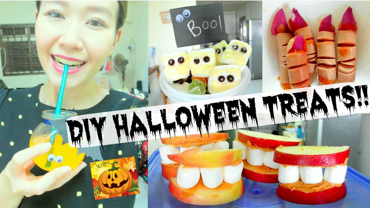 diy halloween treats super easy party food ideas youtube