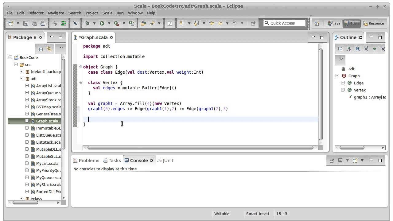 Adjacency Matrices (using Scala)