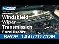 How To Install Replace Windshield Wiper Transmission 1991-03 Ford Escort ZX2