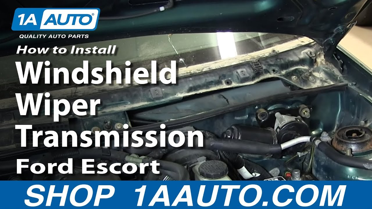 how to install replace windshield wiper transmission 1991 03 ford escort zx2 [ 1280 x 720 Pixel ]