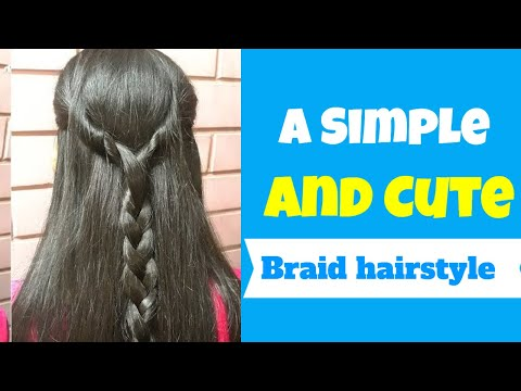 a-simple-and-cute-braid-hairstyle-on-open-hair.-hairstyle-for-girls.