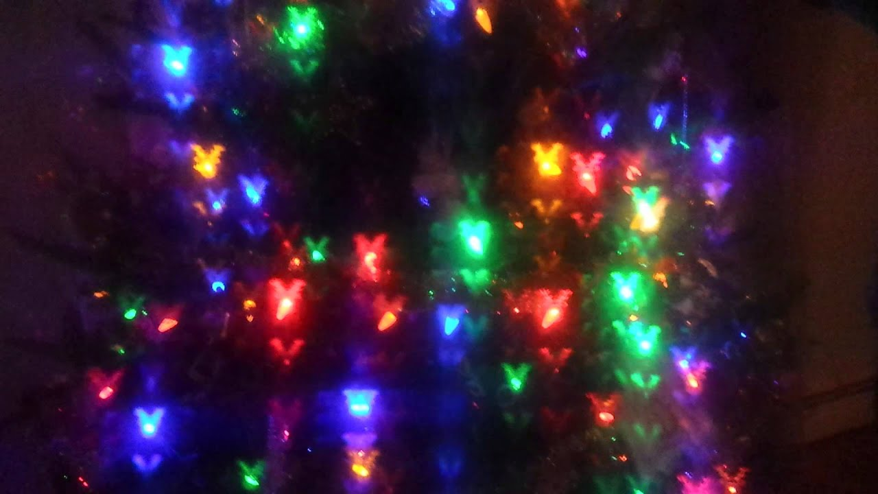 Christmas lights with laser cut 3D glasses - YouTube