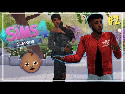 GIVING BIRTH IN RAIN?? ?️? // THE SIMS 4 SEASONS #2 thumbnail