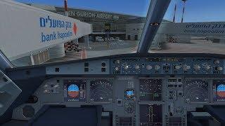 FSX Israel Greece Vatsim FS2Crew Voice Go Around and Manual Landing