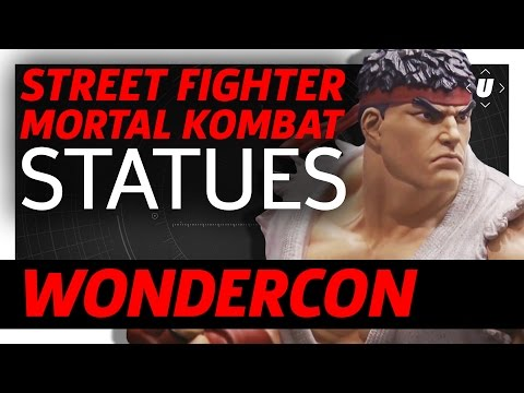 Street Fighter And Mortal Kombat Statues Display At WonderCon 2017