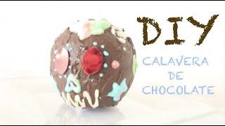 DIY-CALAVERA DE CHOCOLATE SIN MOLDE Thumbnail