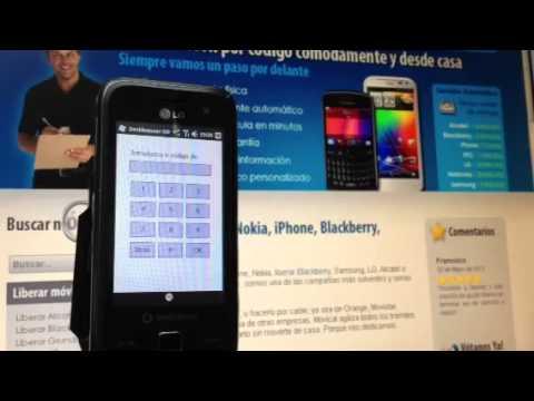 Liberar LG GM750, desbloquear LG GM750 de Vodafone Movical Net