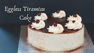 Eggless Tiramisu Cake - Quick and Easy Tiramisu Cake - Eggless Italian Tiramisu Cake