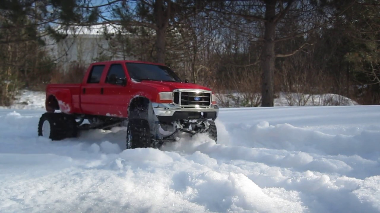 F350 Crew Cab Dually In Snow Youtube