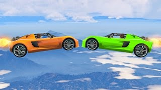 ROCKET CAR vs. ROCKET CAR! (GTA 5 Funny Moments)