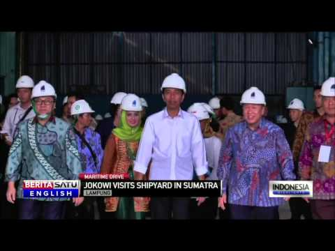 Jokowi Visits Sumatra Projects Amid Maritime Drive