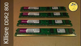 4x2Gb Kllisre DDR2 800MHz RAM AliExpress \ разгон и разочарование, задачка для зрителя
