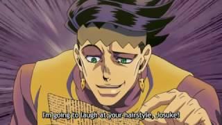 JoJo's Bizarre Sitcom - Rohan Insults Josuke's Hair