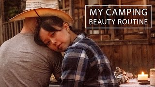 what I packed for camping in a yurt ⎮ skincare and makeup