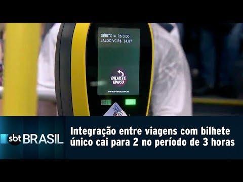 Integração entre viagens com bilhete único cai para 2 no período de 3 horas   SBT Brasil (26/02/19)