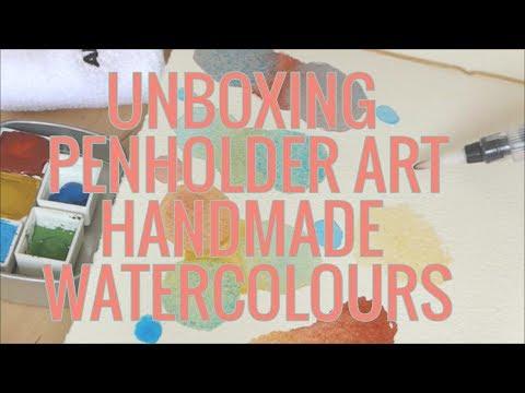 UNBOXING Penholder Art handmade watercolours (UK seller!)