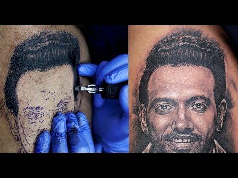 How to make Realistic Hair on Portrait   Tattoo Tutorial - Part - 8