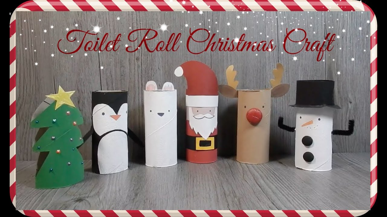 Diy toilet paper roll christmas craft recycle youtube jeuxipadfo Choice Image