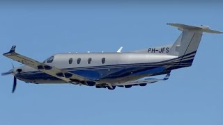 Despegue Pilatus PC-12 (PH-JFS) (AeroTendencias.com)