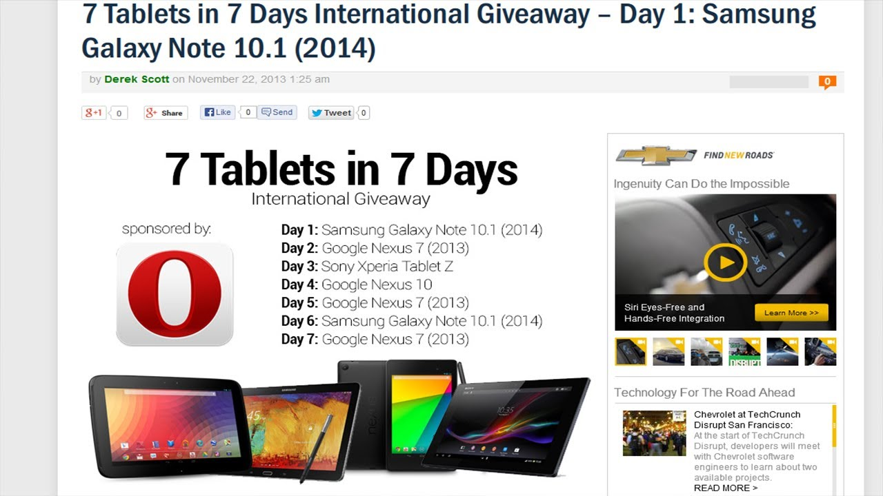 7 tablets in 7 days - international giveaway