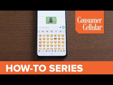 Samsung Galaxy A20: Adding Photos And Emojis To Text Messages (8 Of 16) | Consumer Cellular