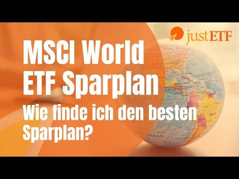 MSCI World ETF Sparplan – Wie finde ich den besten ETF Sparplan?