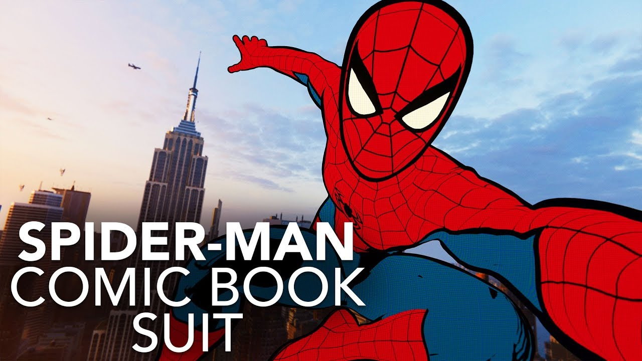 Spider-Man (PS4) Comic Book Suit In Action