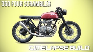 Cafe Racer Timelapse Build - Honda CB 350 Four Scrambler