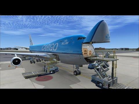 FSX   FSCloud   ESSA - SCEL Cargo trip (via EHAM and SBFZ)   KLM 747-400ERF [GER   ENG] Part 2