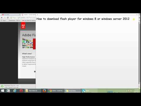 How to download flash player for windows 8 or windows server 2012