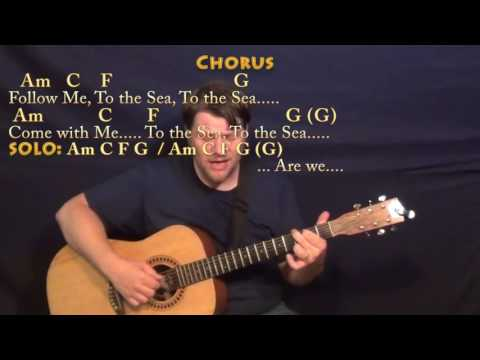 To the Sea (Munson) Fingerstyle Guitar Cover Lesson with Chords/Lyrics - Am C F G