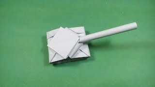 How to Make a Paper Tank - Easy Origami Tank Instructions