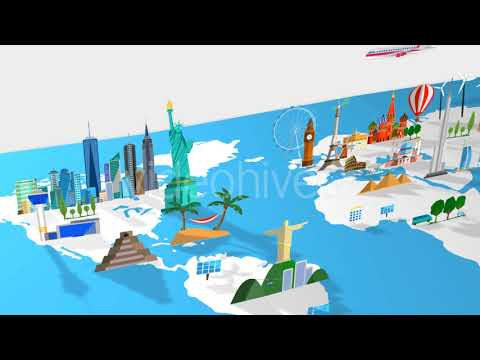 Travel world map motion graphics youtube travel world map motion graphics gumiabroncs Image collections