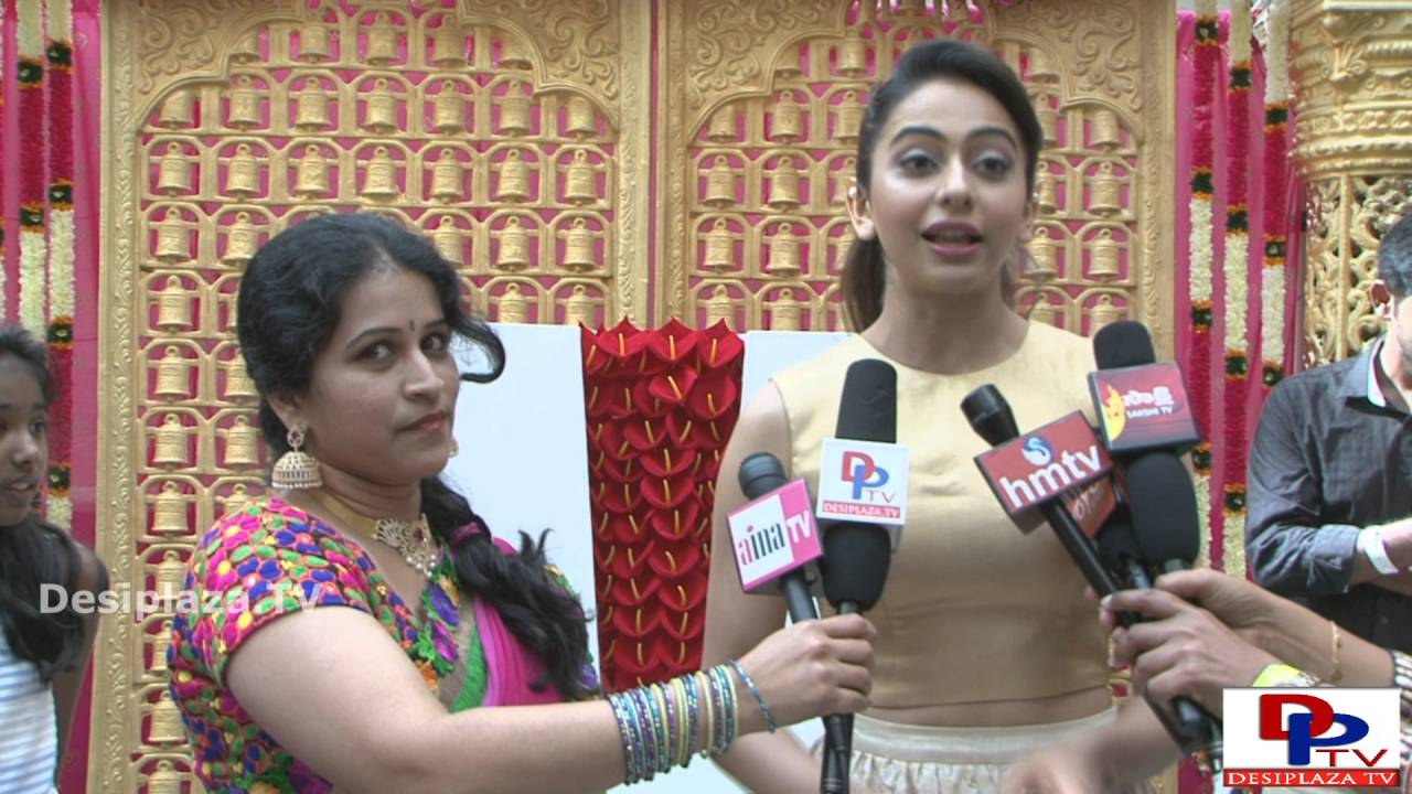 Telugu Movie Actress Rakul Preet Singh speaking to the media at  NATA Convention  2016