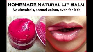 Homemade Natural beetroot Lipbalm for dry,dark lips.