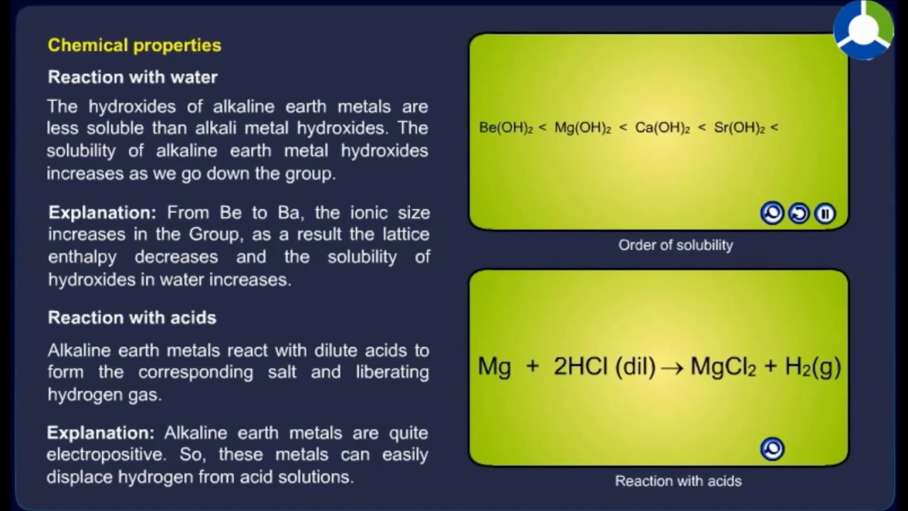 General characteristics of alkaline earth metals youtube urtaz Images