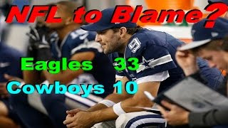 NFL Partly To Blame For Cowboys Loss To Eagles On Thanksgiving Day??