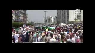 الجزائريون يطالبون بفتح الحدود مع غزة