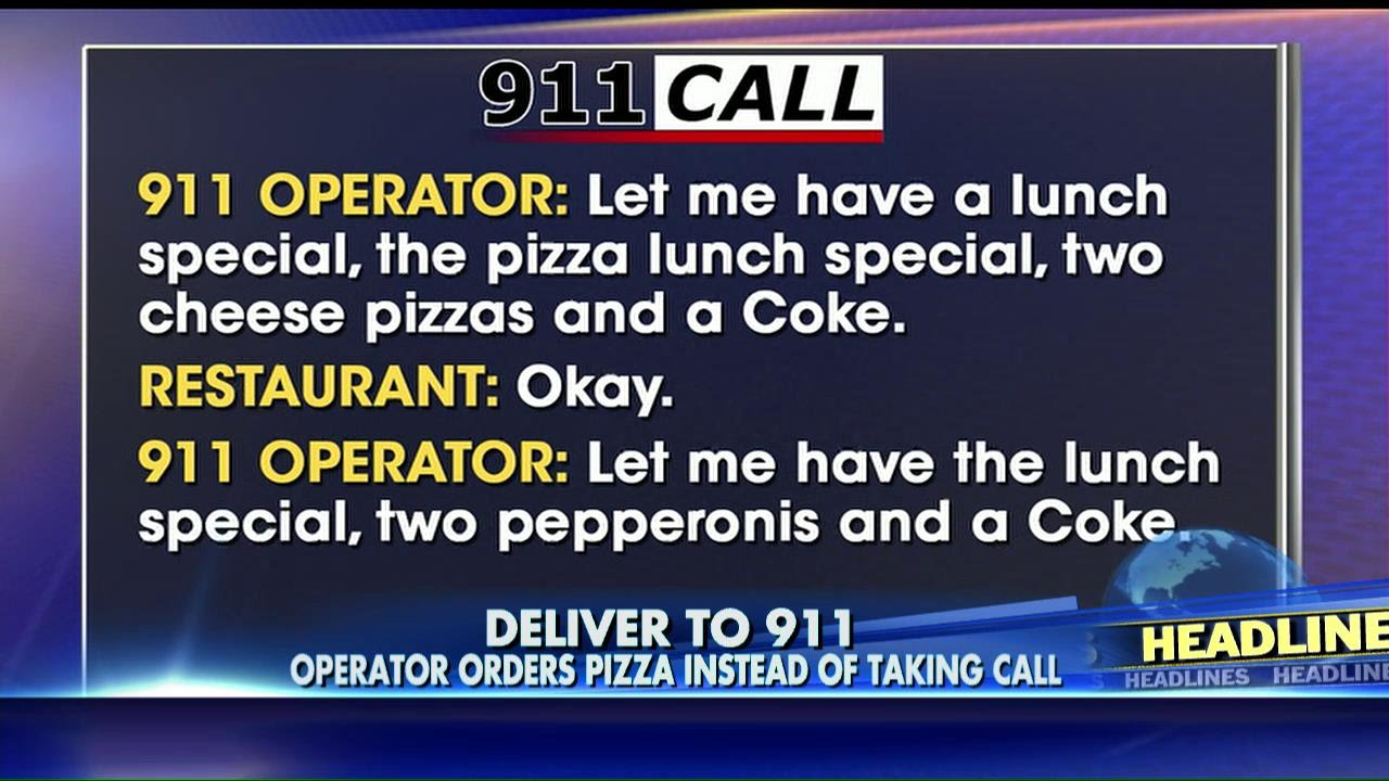 LISTEN 911 Dispatcher Misses Emergency Call Because She Was Ordering Pizza